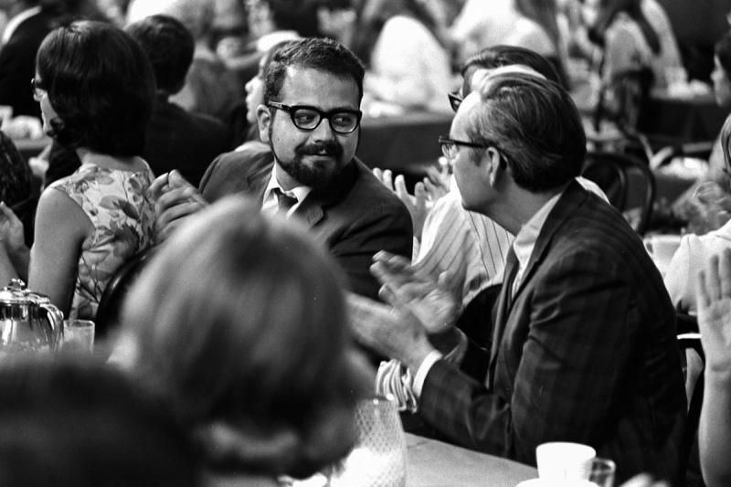 Peter Euben (left)