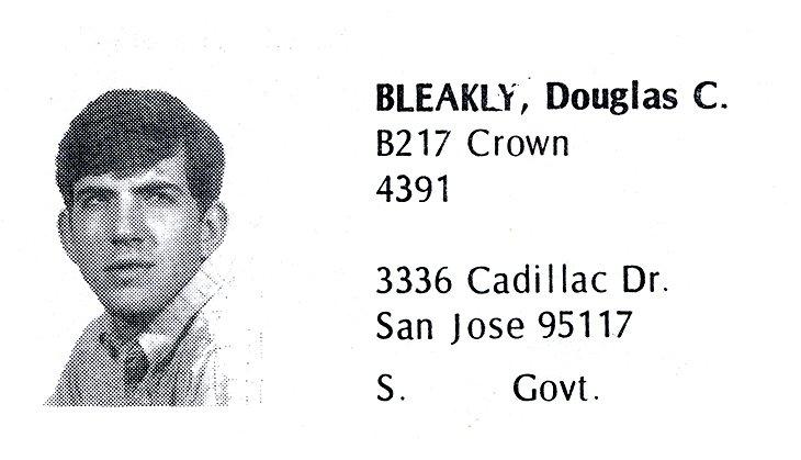 Bleakly, Doug (Crown '71)