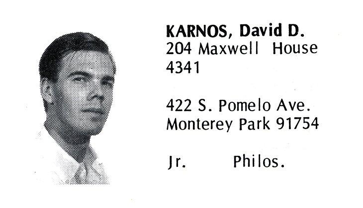 Karnos, David (Crown '70)