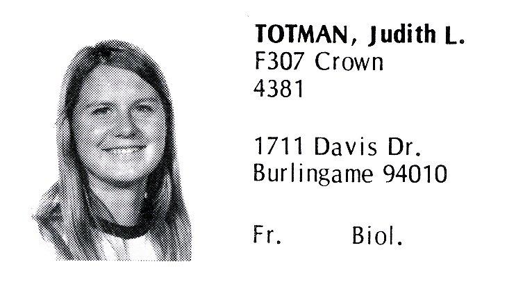 Totman, Judith (Crown '72)